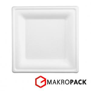 Eko talerz kwadratowy 16 cm light / 1000 szt